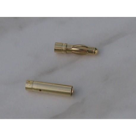 Zlacený konektor 4 mm
